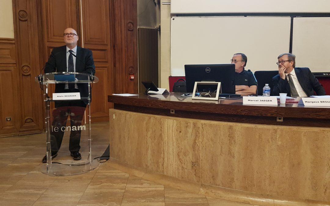 Intervention d'Alain Régnier lors d'un atelier du Cnam organisé avec le Medef le 25 juin à Paris