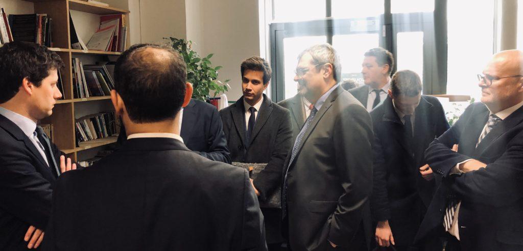 Alain Régnier et Julien Denormandie, ministre de la ville et du logement