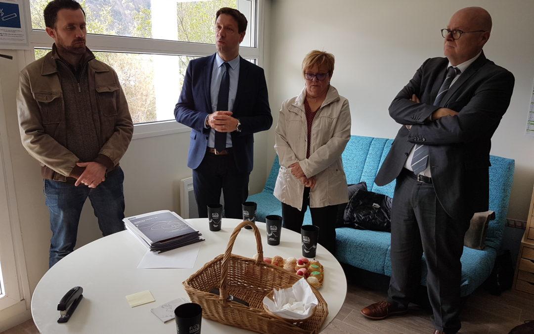 Déplacement du délégué interministériel, Alain Régnier, en Savoie