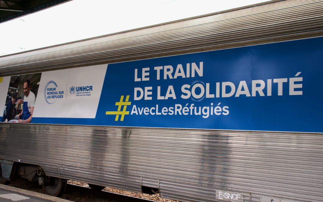 Le Train de la solidarité #AvecLesRéfugiés arrive aujourd'hui à Genève