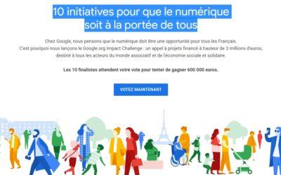 Google Impact challenge France 2019 : Konexio et Unis-cité parmi les 10 finalistes