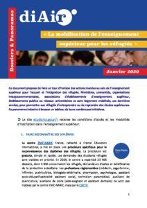 Plaquette Mobilisation de l'enseignement supérieur pour les réfugiés