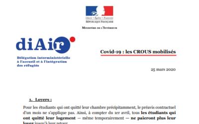 #COVID19 : les CROUS mobilisés