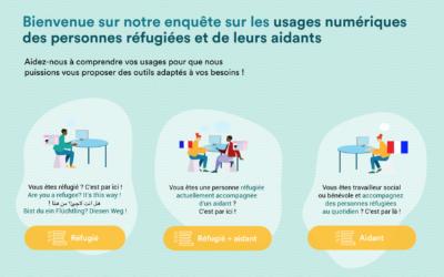 Aperçu des résultats de l'enquête sur les usages du numérique des personnes réfugiées