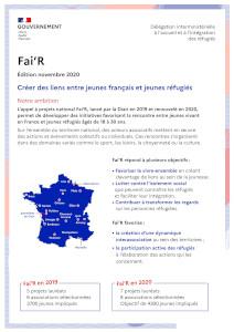 Plaquette de présentation du programme Fai'R